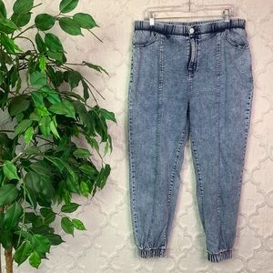 Wild Fable Acid Wash Jogger Mom Jeans